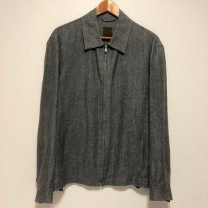 Luciano Barbera men's linen-blend jacket